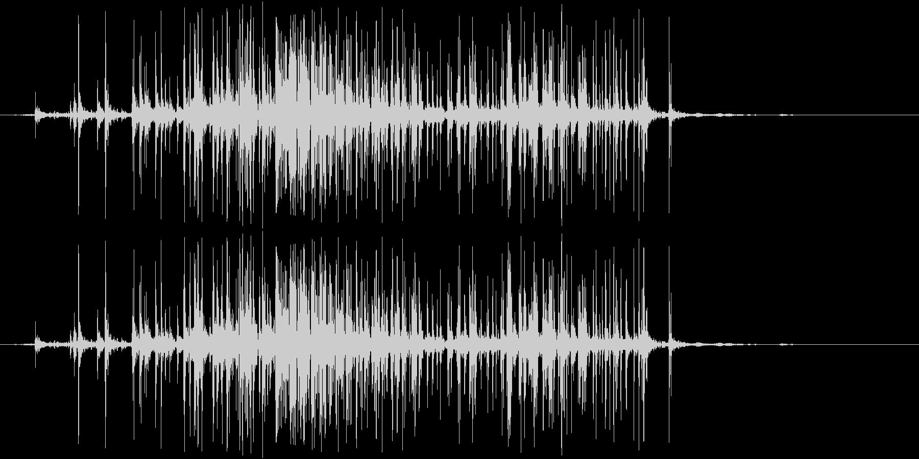 ベリベリ(ベルクロ)の未再生の波形