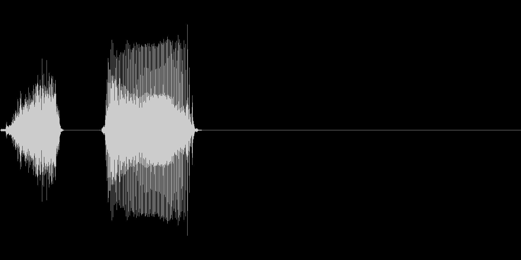 北の未再生の波形
