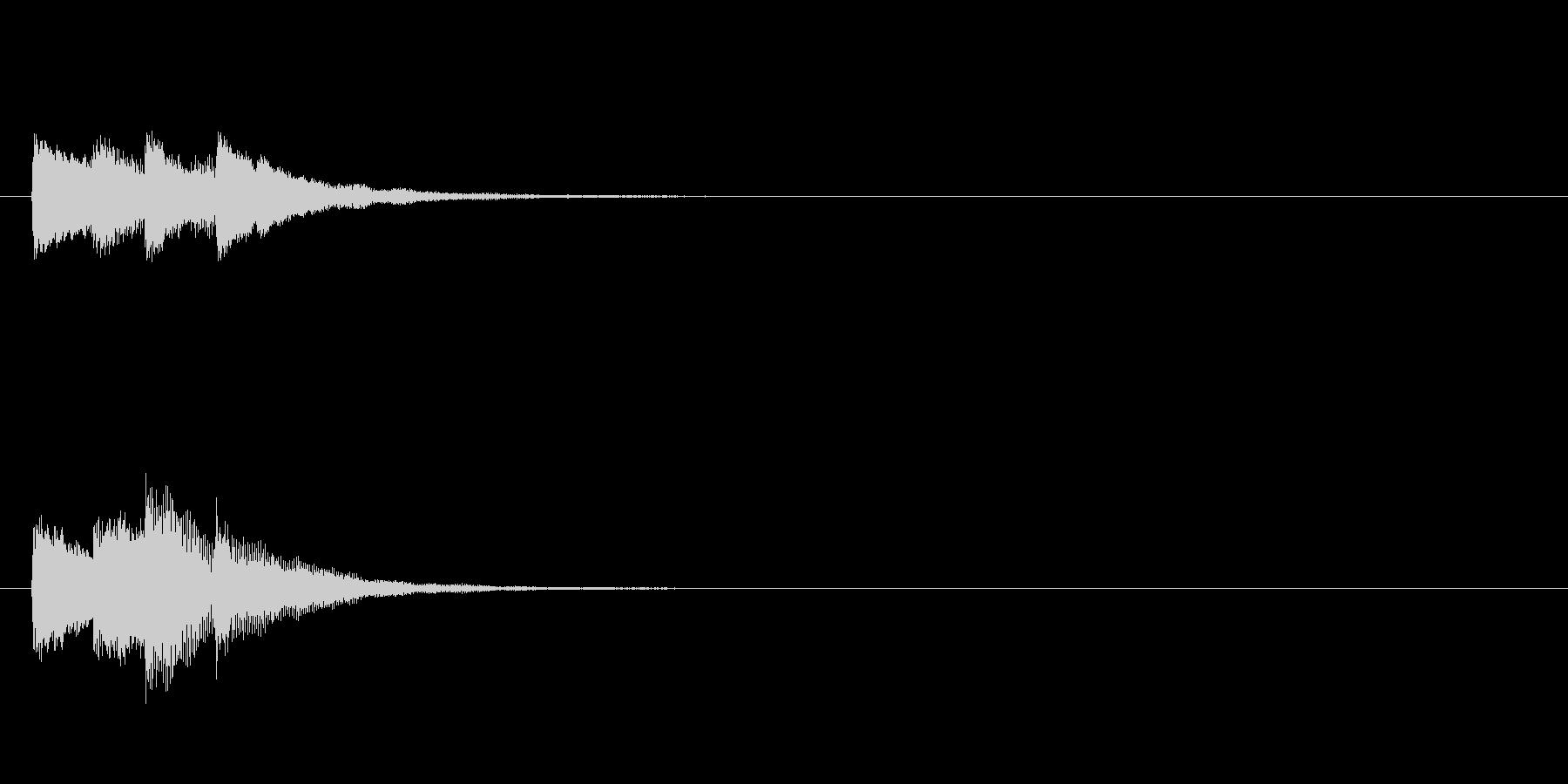 ティレレン♪(成功・決定)の未再生の波形