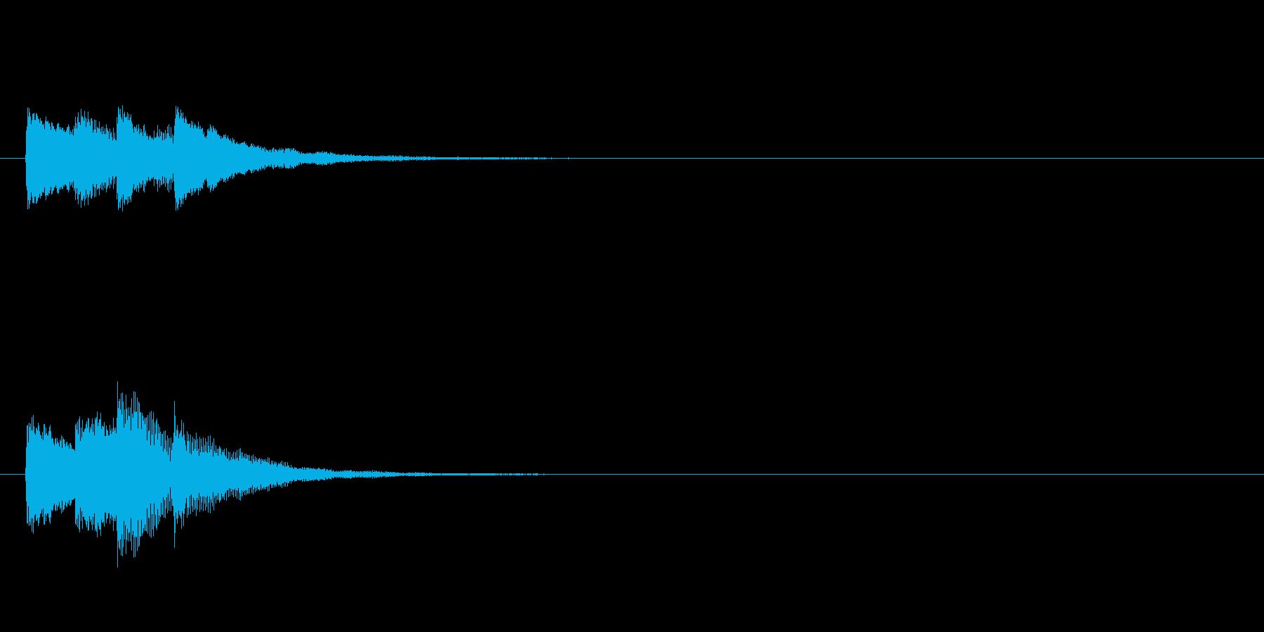ティレレン♪(成功・決定)の再生済みの波形