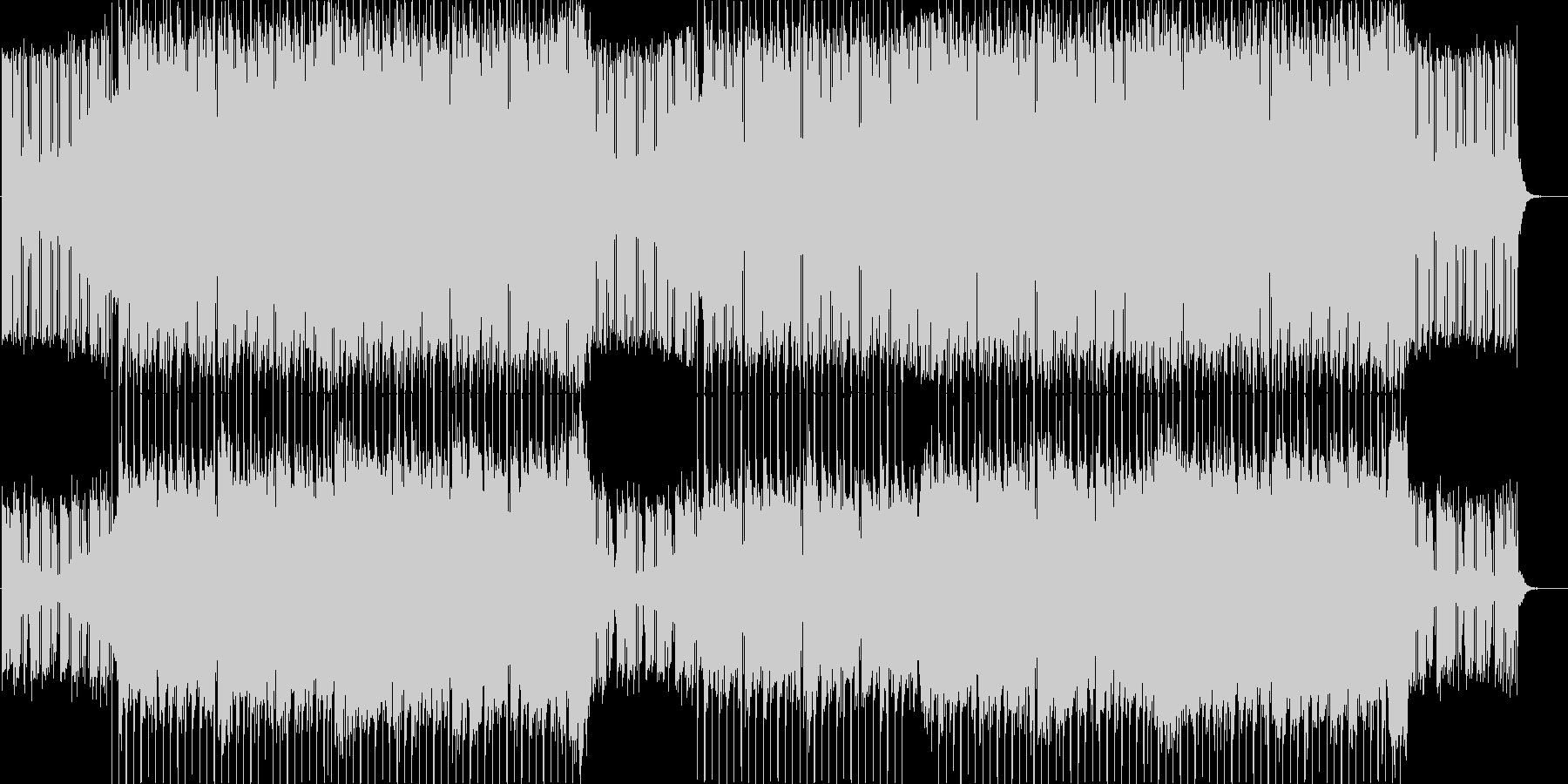 ポップ&アップビートなエレクトロニック♪の未再生の波形
