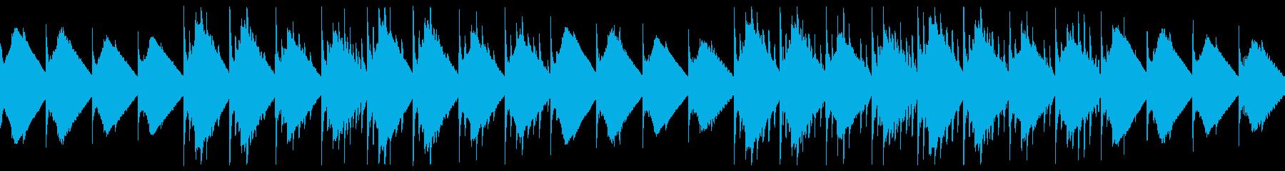 暗い雰囲気の洞窟風チップチューンサウンドの再生済みの波形