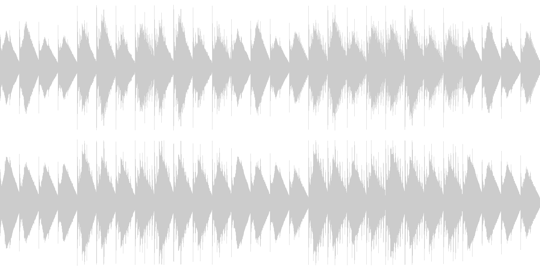 暗い雰囲気の洞窟風チップチューンサウンドの未再生の波形