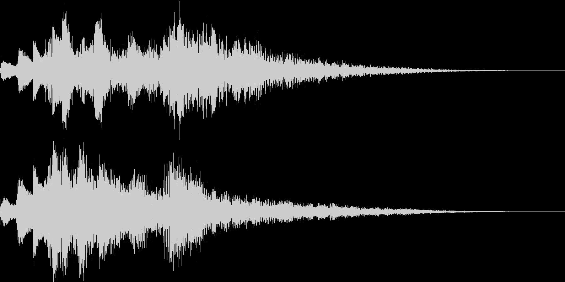 アイキャッチ用ジングル2 - ピアノ+αの未再生の波形