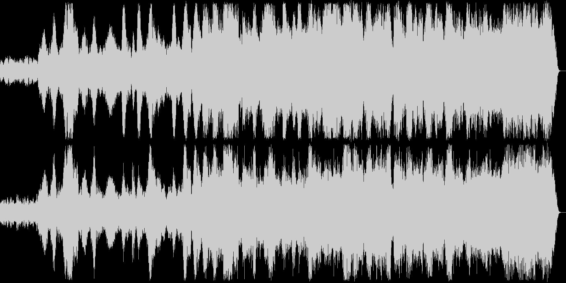ハープシコードとバイオリンで始まる幻想曲の未再生の波形
