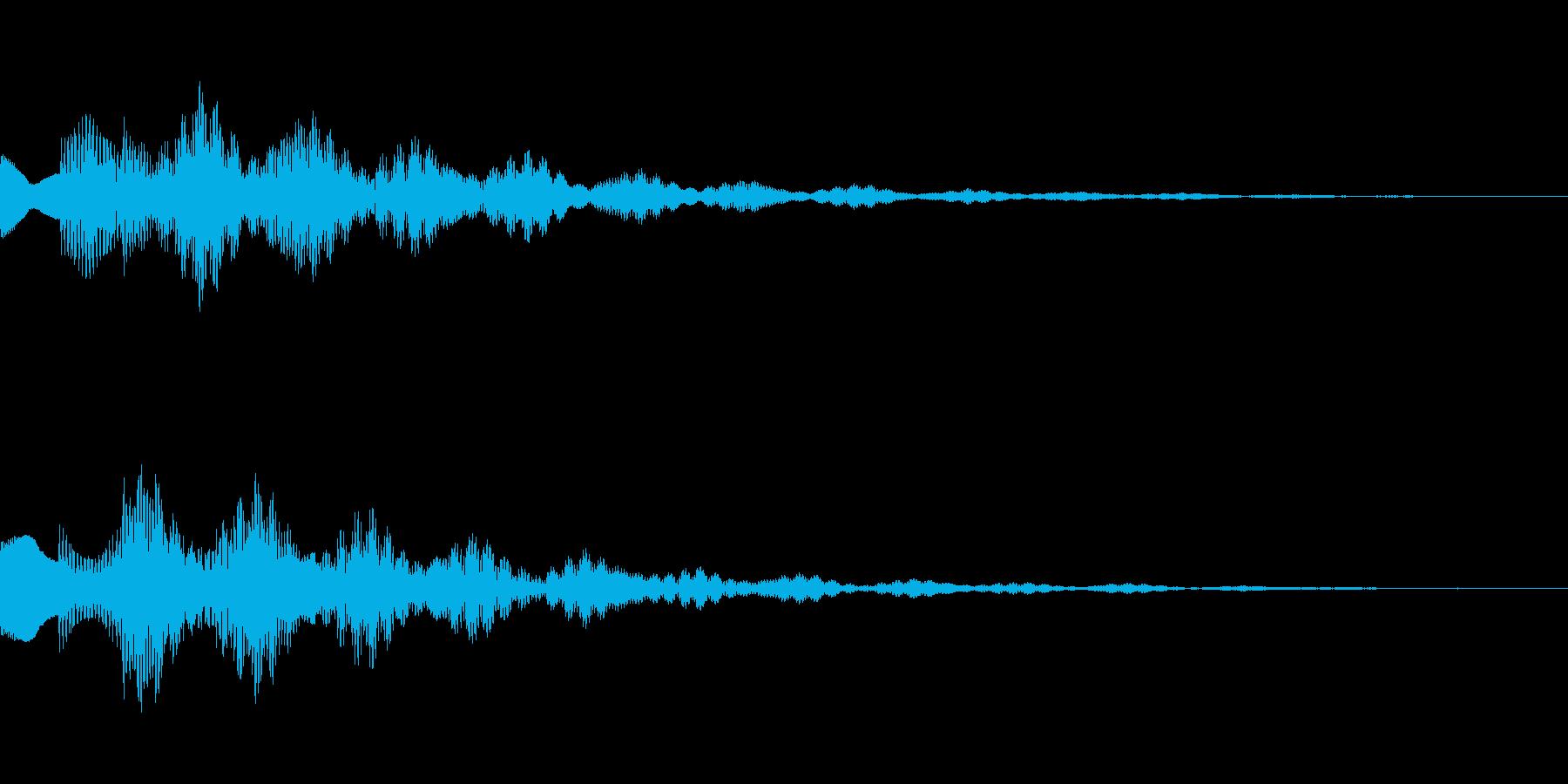 サスペンスっぽい怪しい単音のエレピ音の再生済みの波形