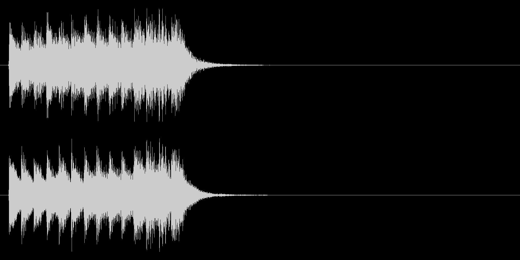 ピアノジングル2、緊迫、映像の未再生の波形