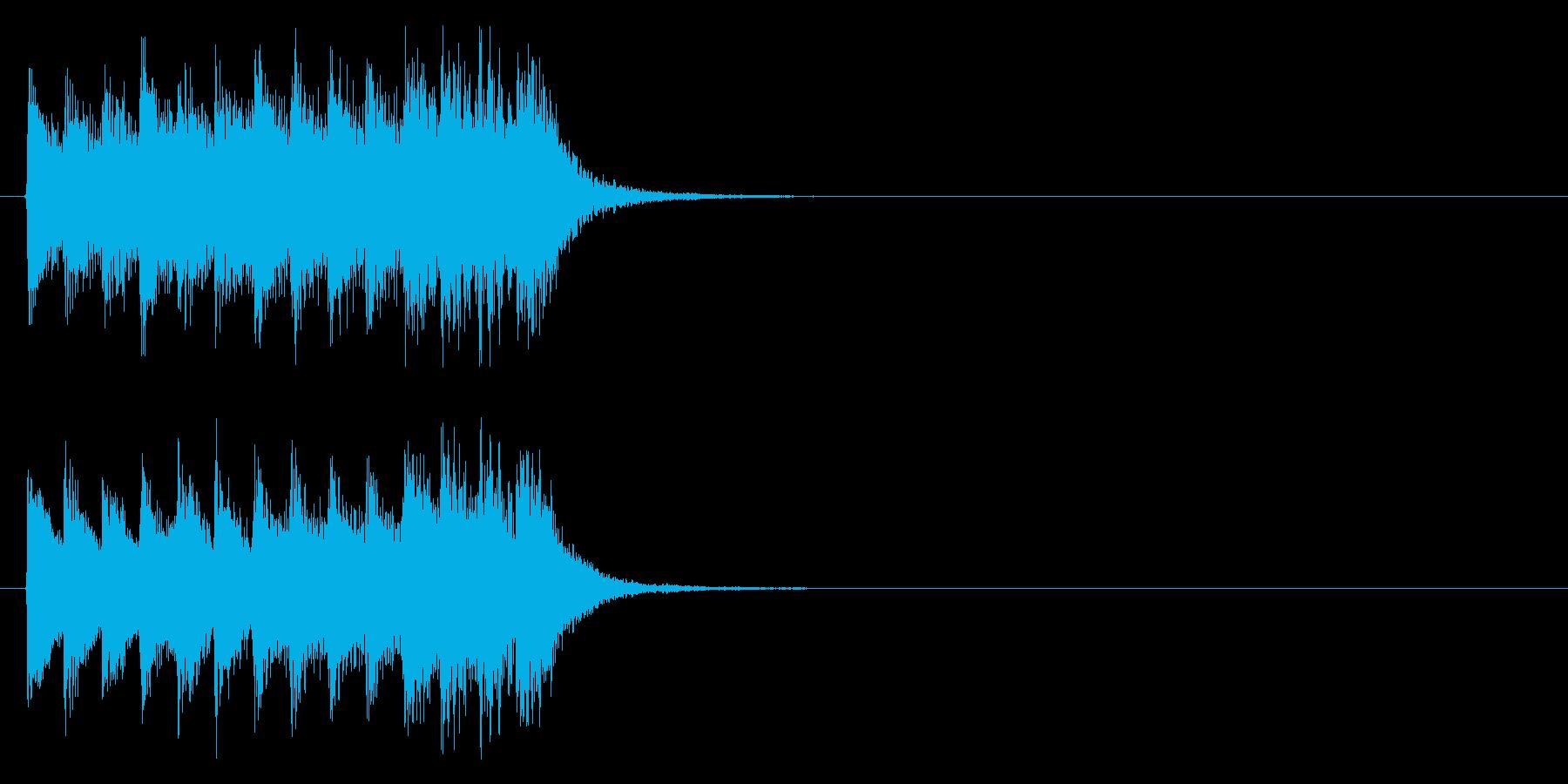 ピアノジングル2、緊迫、映像の再生済みの波形