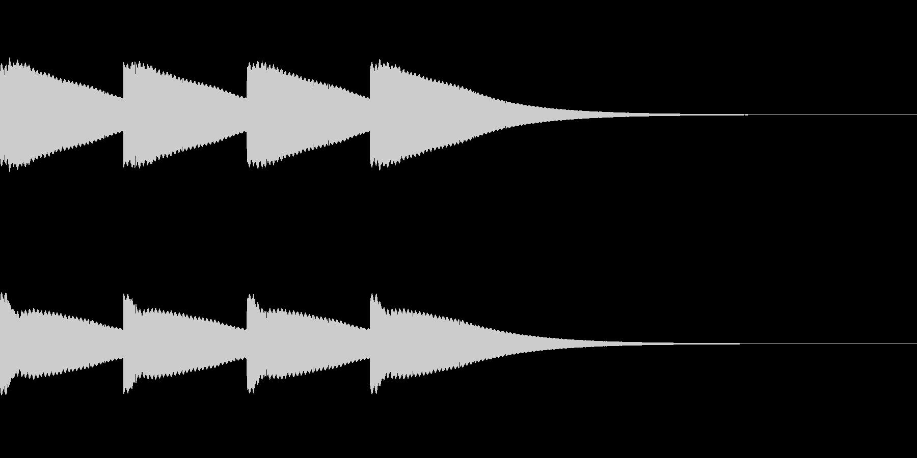ボーン...。時計の鐘A(高・短)の未再生の波形