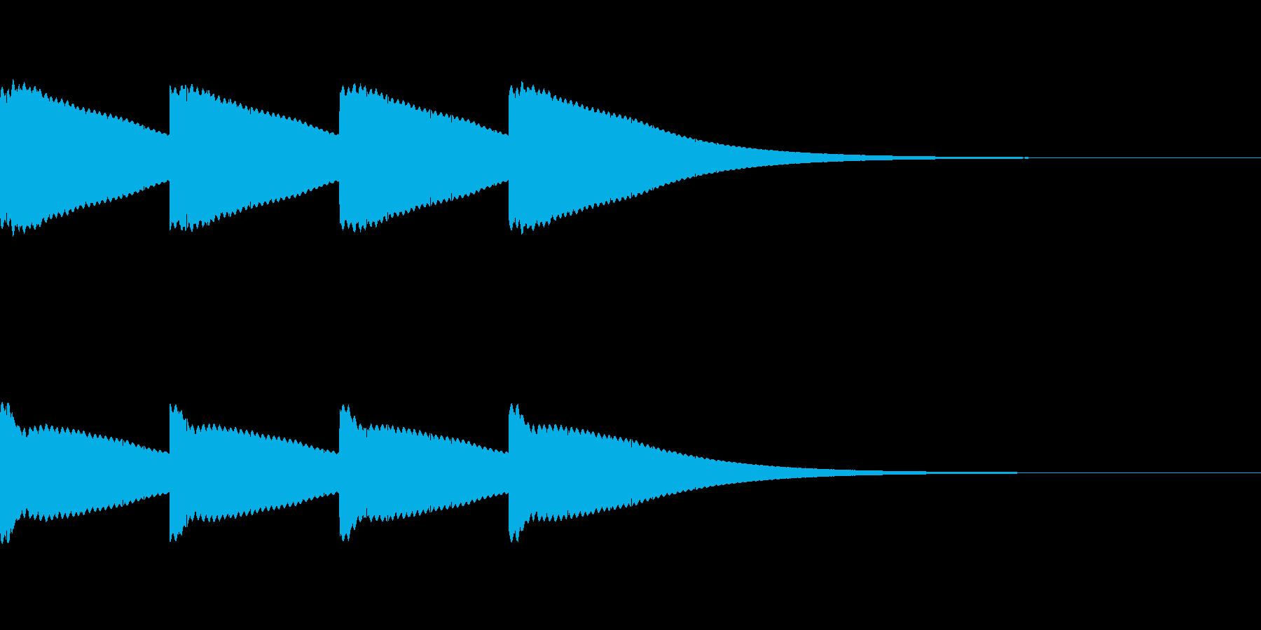 ボーン...。時計の鐘A(高・短)の再生済みの波形