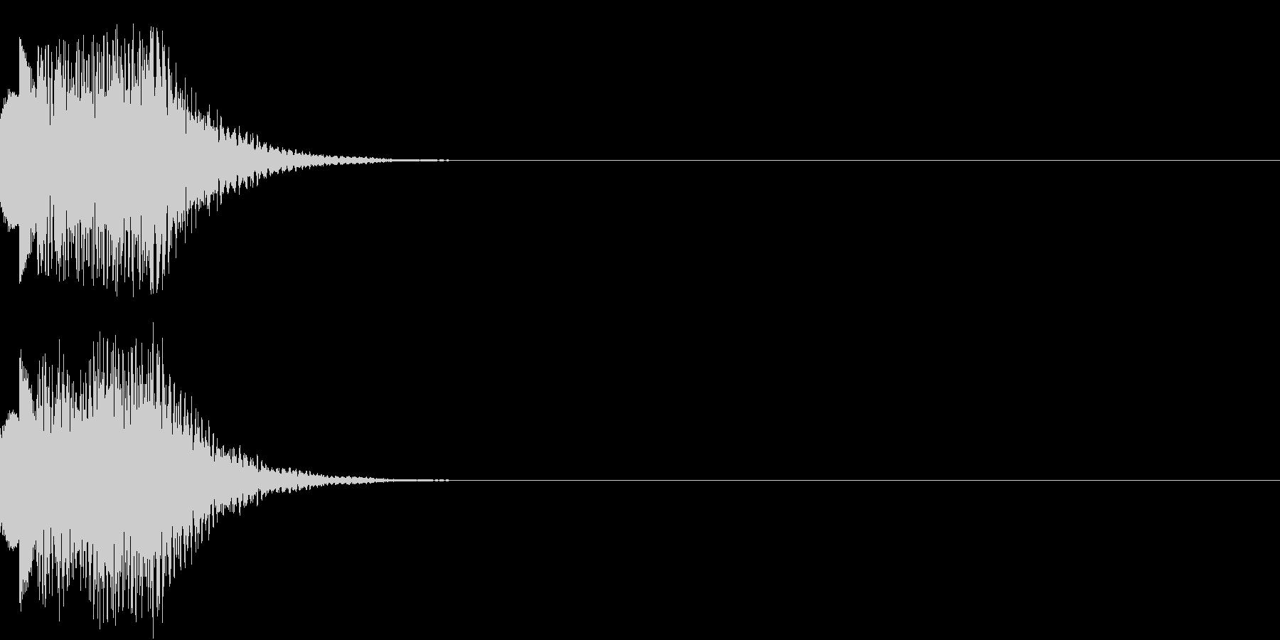 システム、ヒント、テロップの未再生の波形
