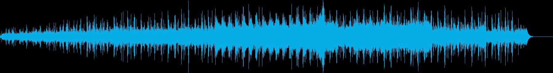前半は哀愁があり後半は躍動感のあるBGMの再生済みの波形
