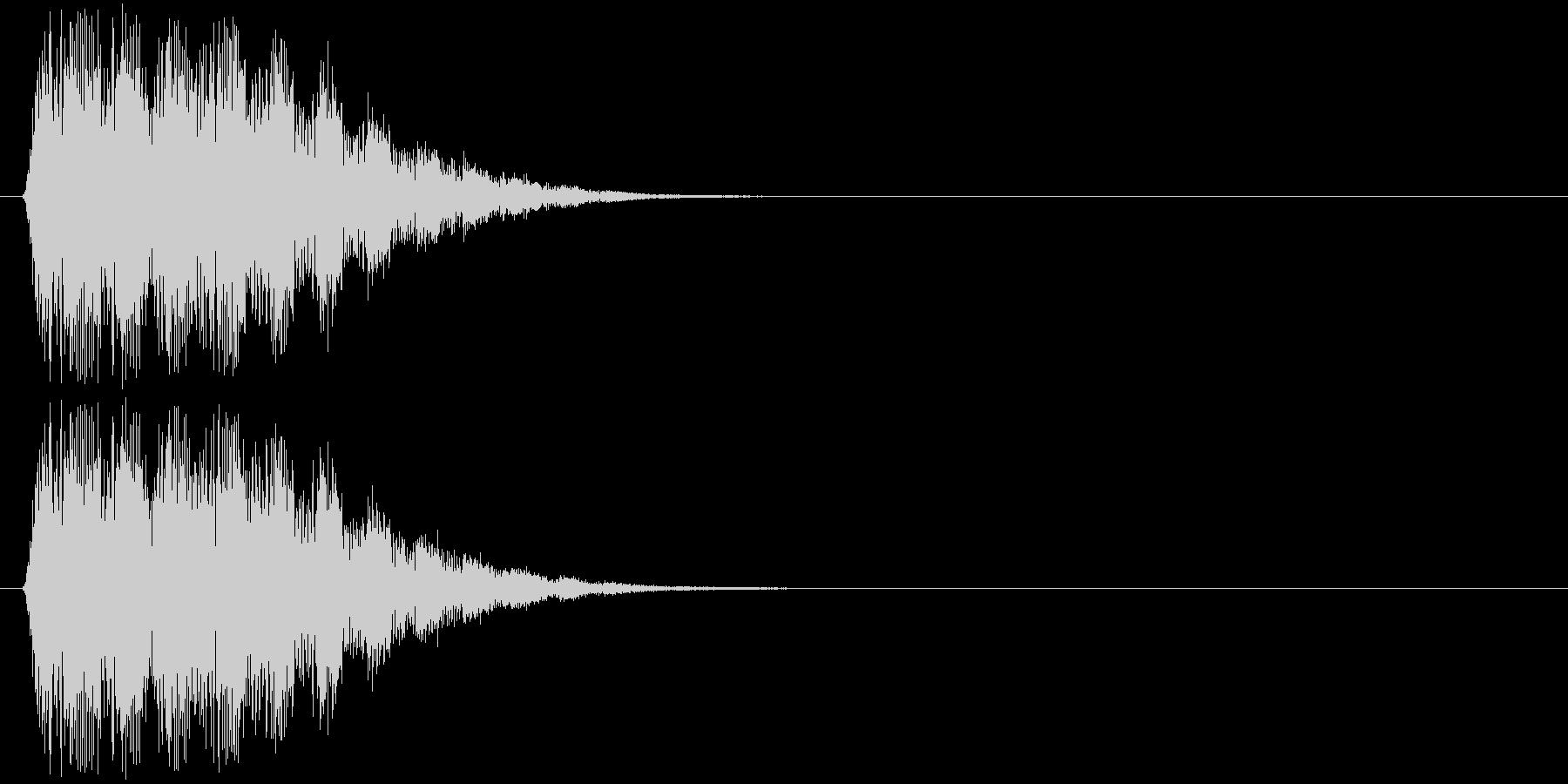 ティロリロリロッ↑(ポップな効果音)の未再生の波形