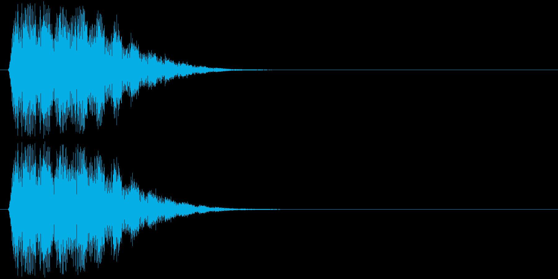ティロリロリロッ↑(ポップな効果音)の再生済みの波形