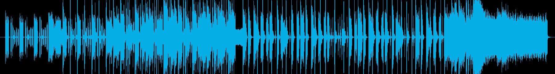 軽快でポップなジングルの再生済みの波形
