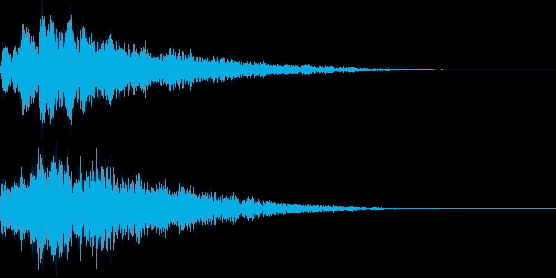 やさしい雰囲気のサウンドロゴの再生済みの波形