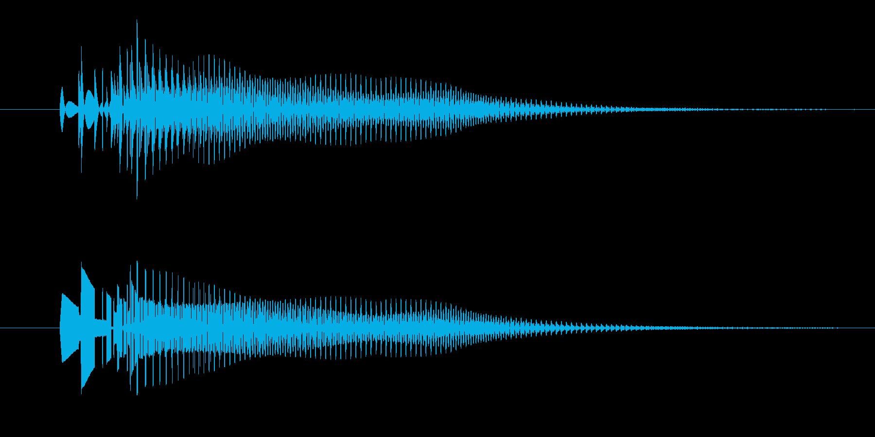 プオンッ。 デジタル音。の再生済みの波形