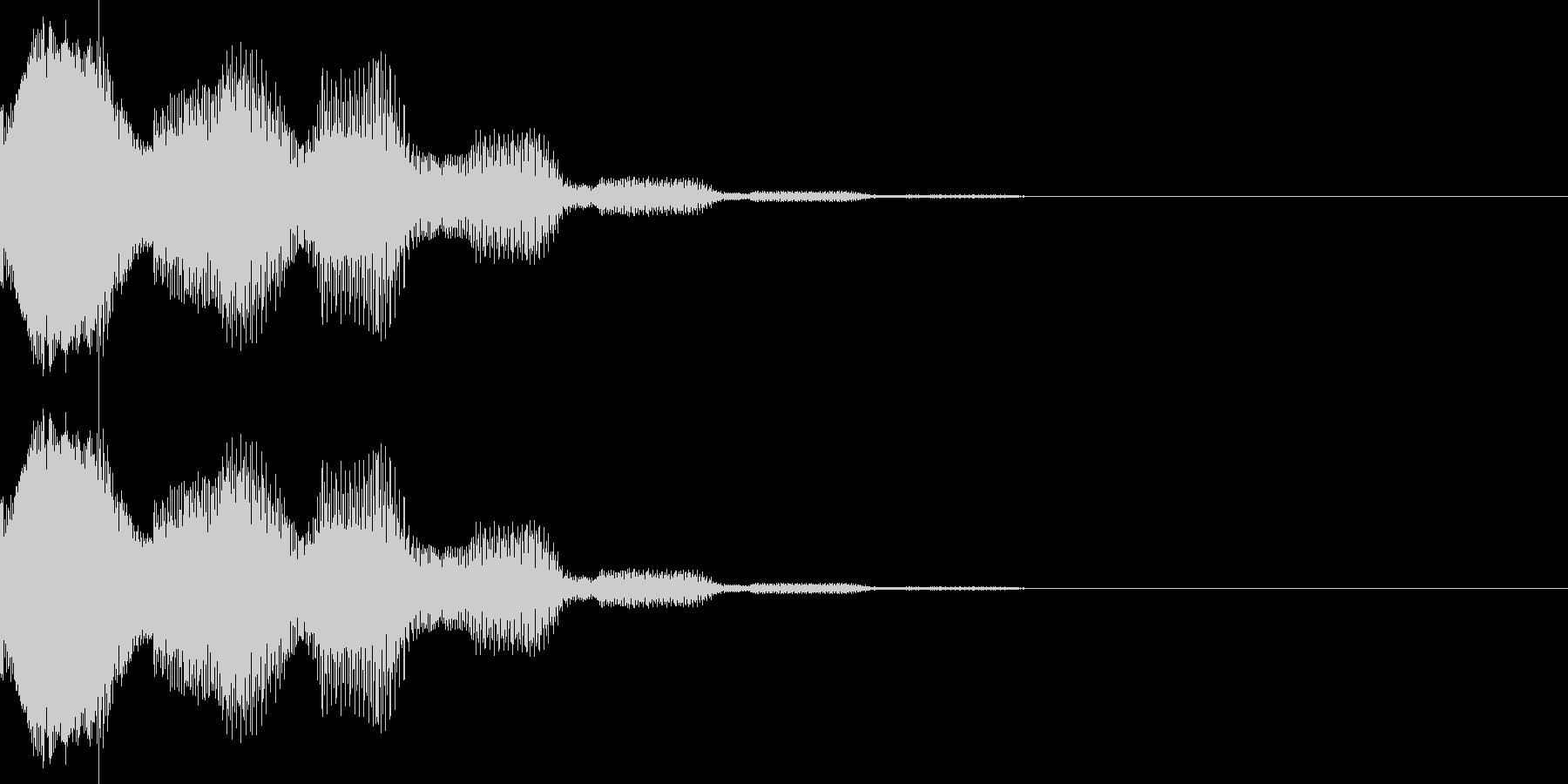 ピリロン(カーソル、決定、表示)の未再生の波形
