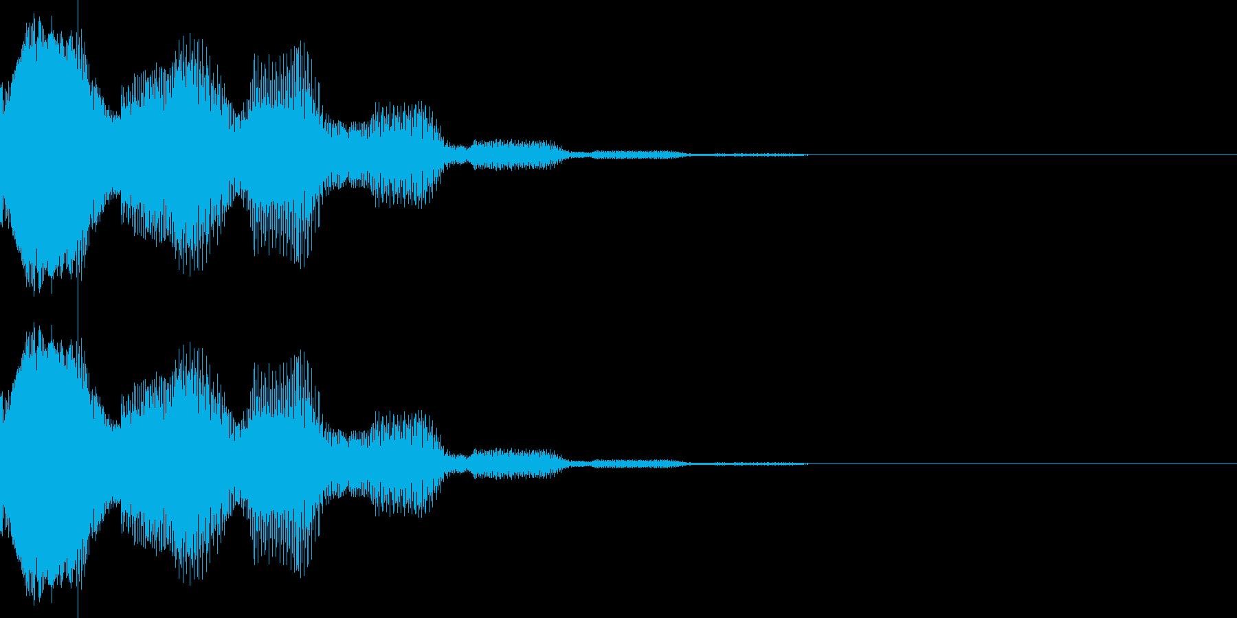 ピリロン(カーソル、決定、表示)の再生済みの波形