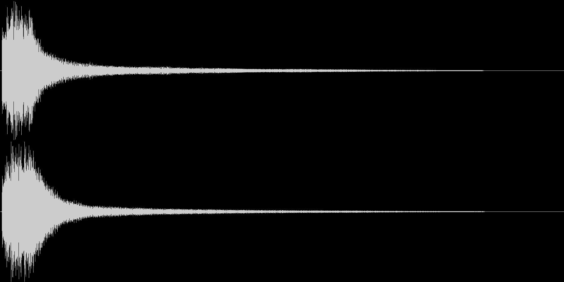エンディング・ゲームオーバーなSE 3の未再生の波形