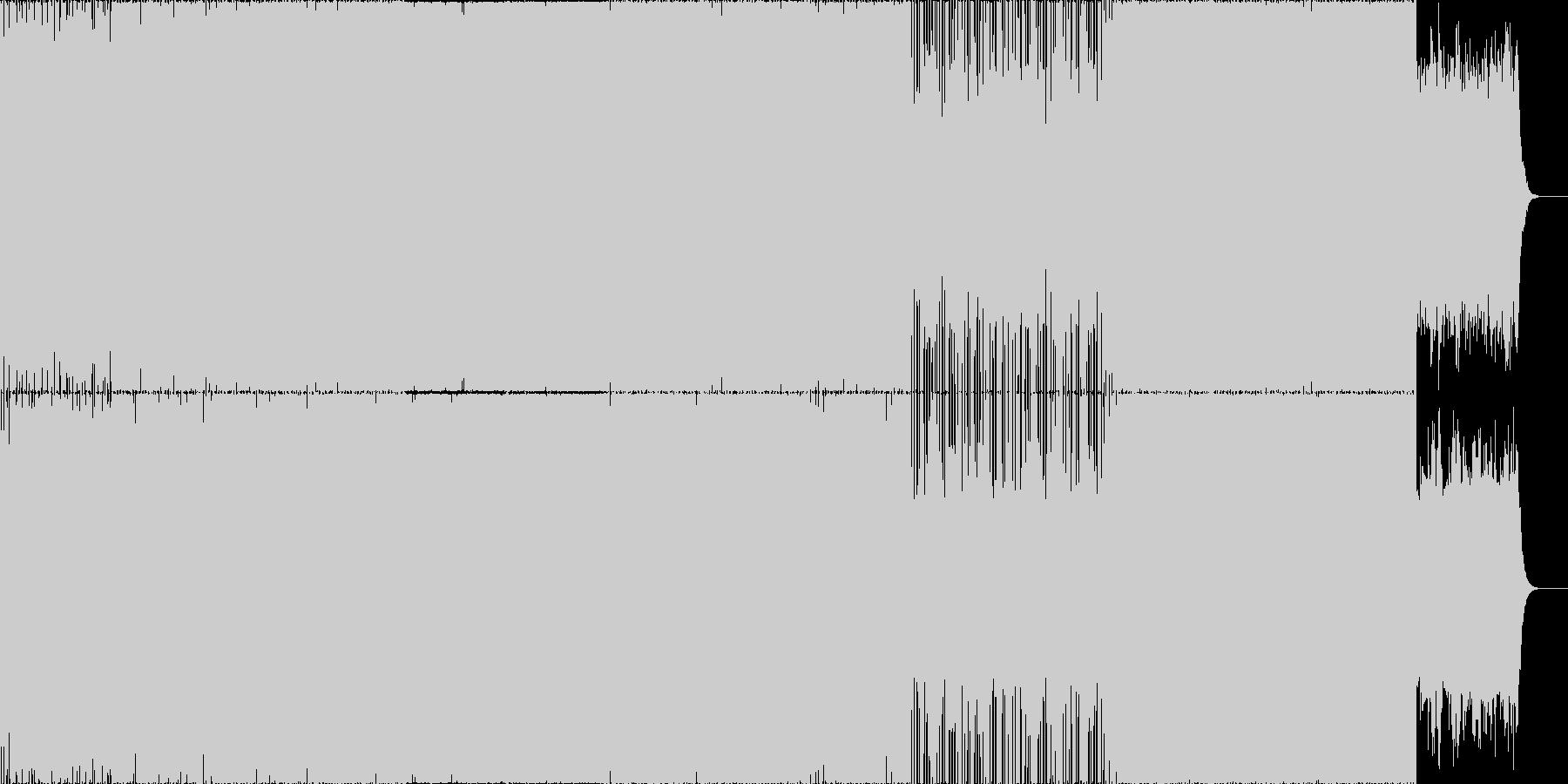 爽やかなエレクトロニカ。の未再生の波形