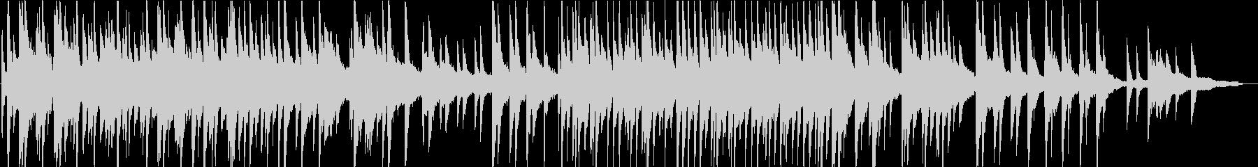 懐かしくてノスタルジックなピアノ曲の未再生の波形