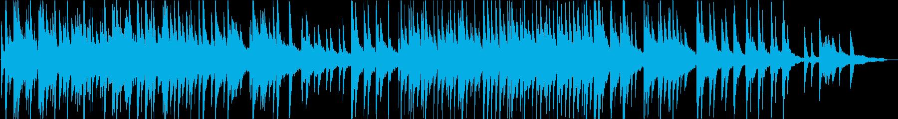 懐かしくてノスタルジックなピアノ曲の再生済みの波形
