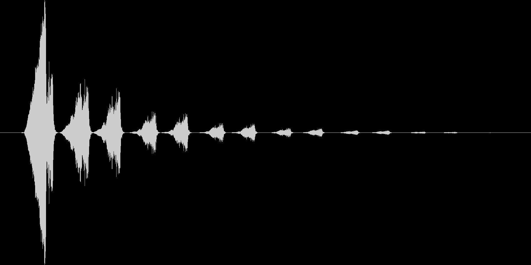怪しげなタイトル音3の未再生の波形
