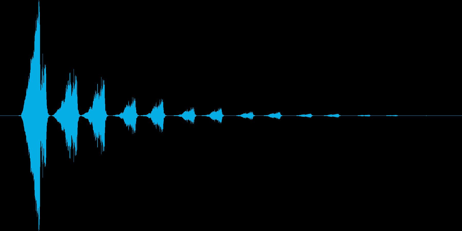 怪しげなタイトル音3の再生済みの波形