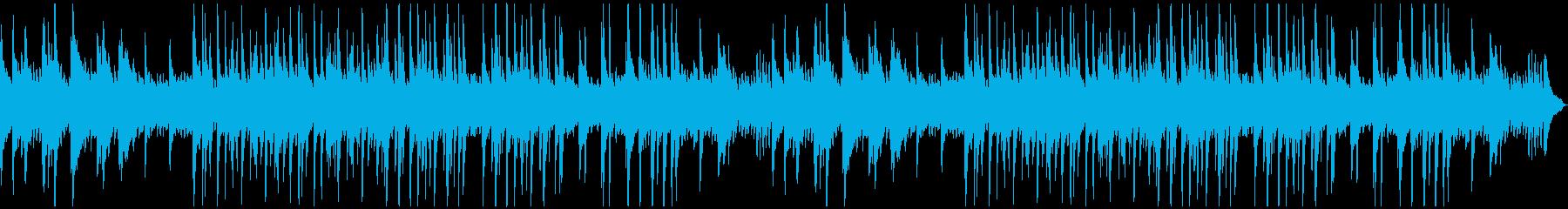ゆったり落ち着いたムードのソロ・ピアノ曲の再生済みの波形
