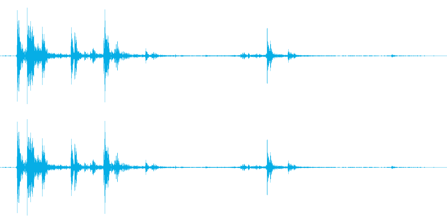 カランの再生済みの波形