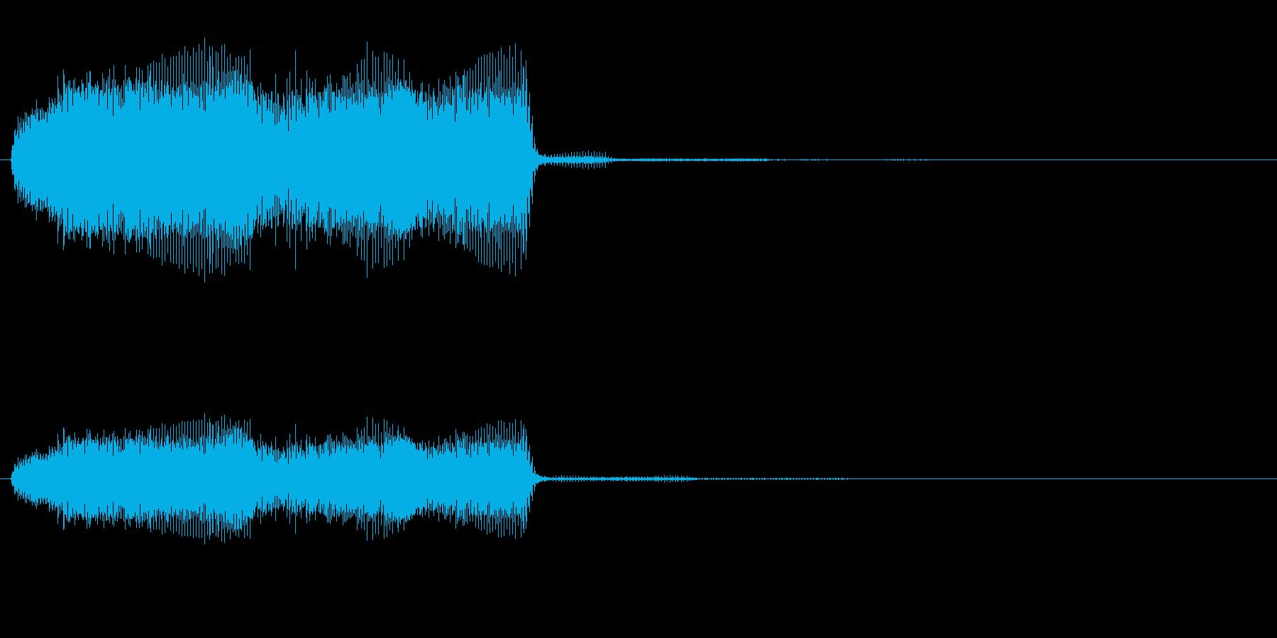 ビリビリの再生済みの波形