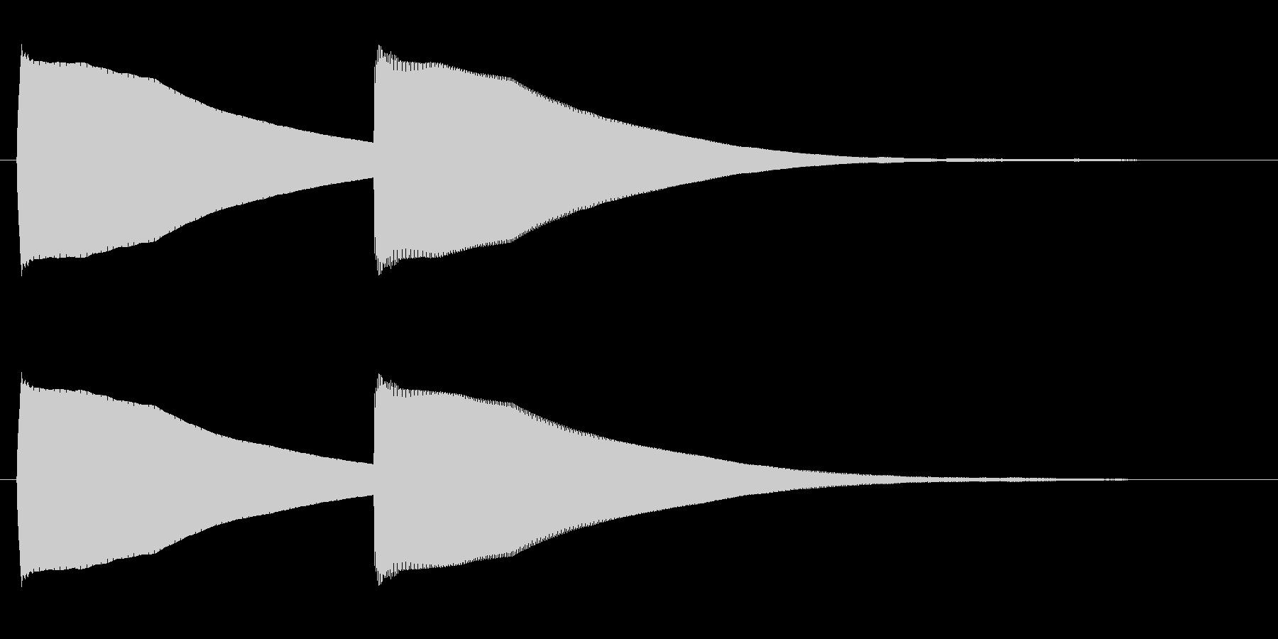 ピーコン(甲高く繊細な電子音)の未再生の波形