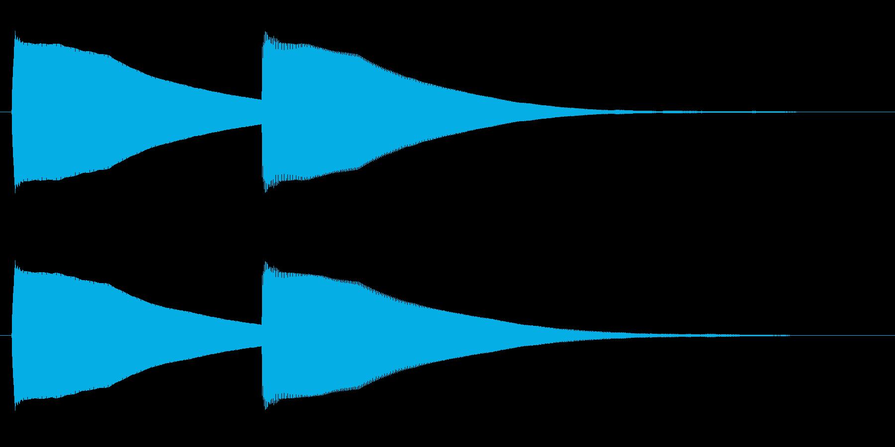 ピーコン(甲高く繊細な電子音)の再生済みの波形