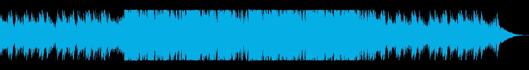疾走感のあるテクノポップスの再生済みの波形