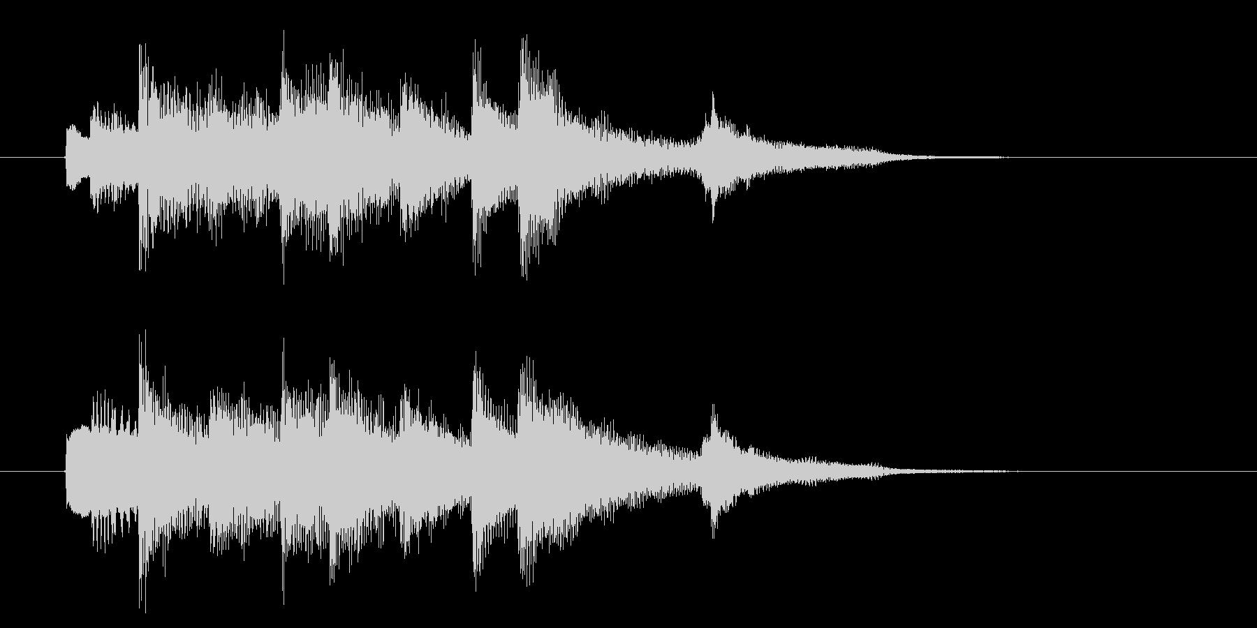 穏やかで癖のないピアノBGMの未再生の波形