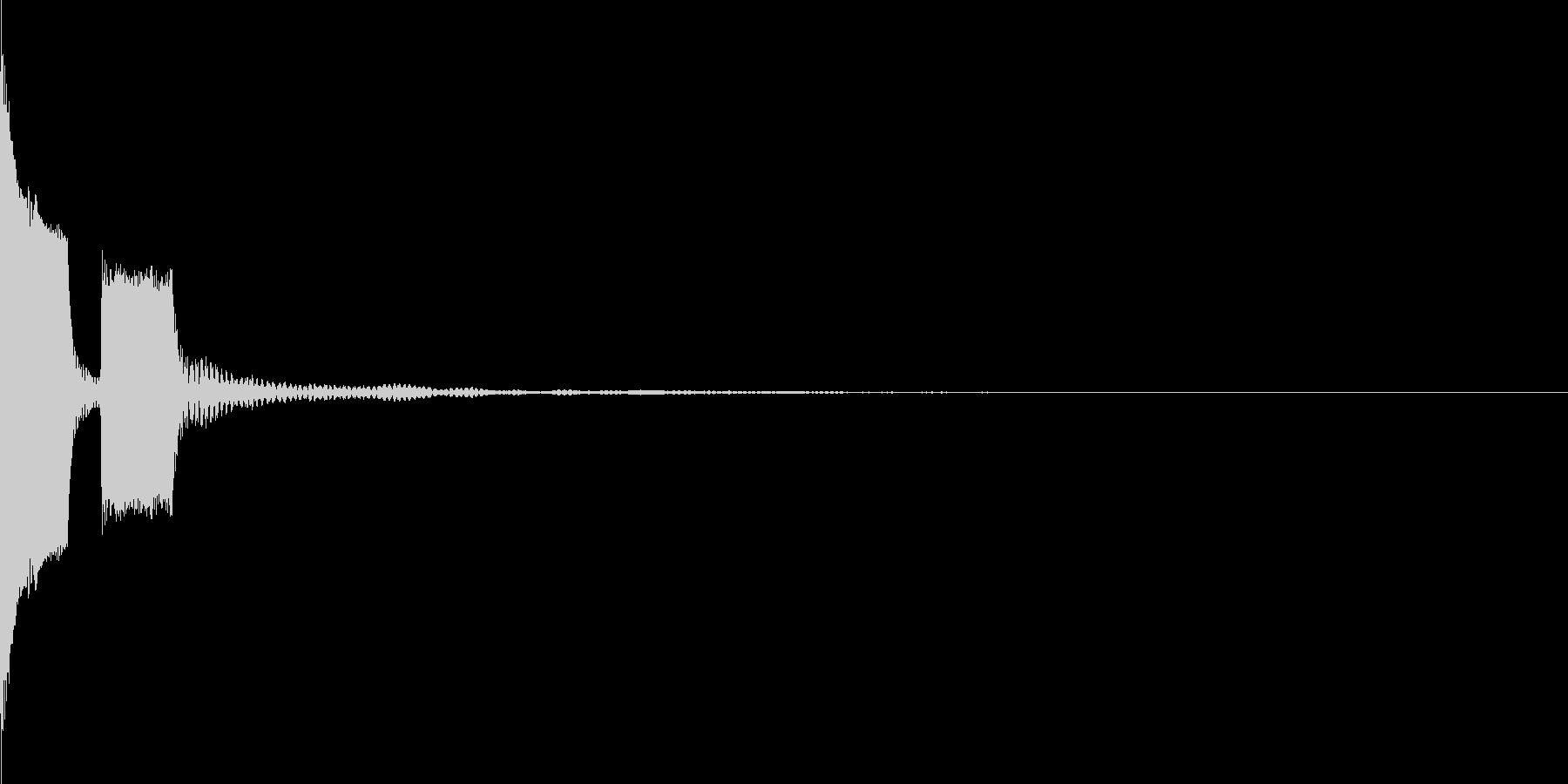 ピポン(お知らせ_シンセ)の未再生の波形