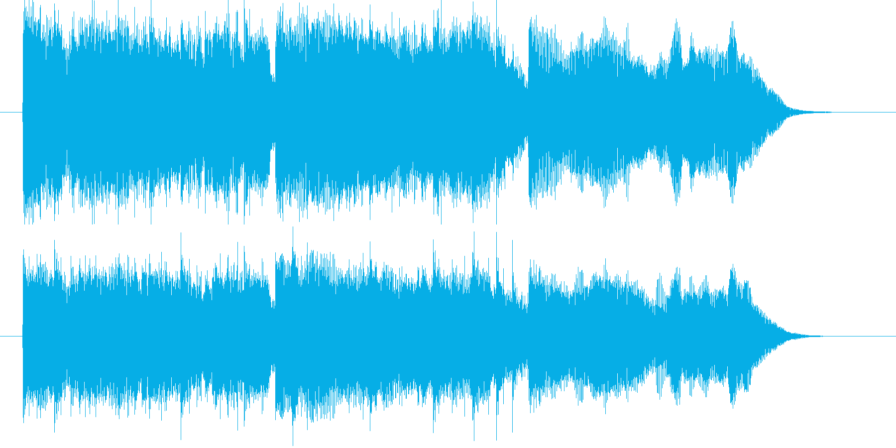 近未来や宇宙感のあるシンセサウンド短めの再生済みの波形