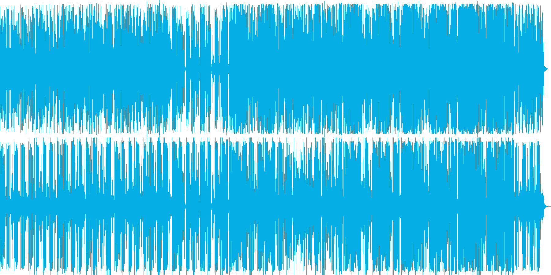 妖しいリズムとノイズと不協和音ピアノの再生済みの波形