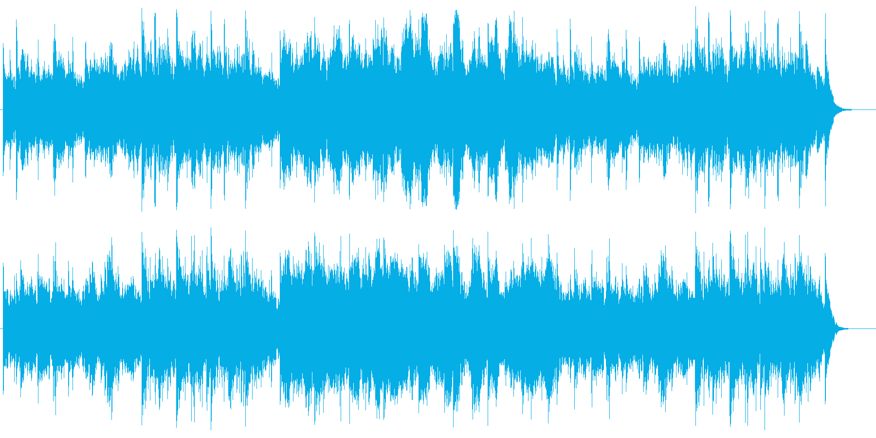 神秘的な雰囲気のヒーリングサウンドの再生済みの波形