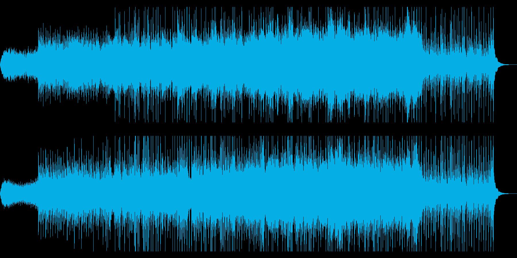 尺八、琴、ストリングスの美しめの曲の再生済みの波形