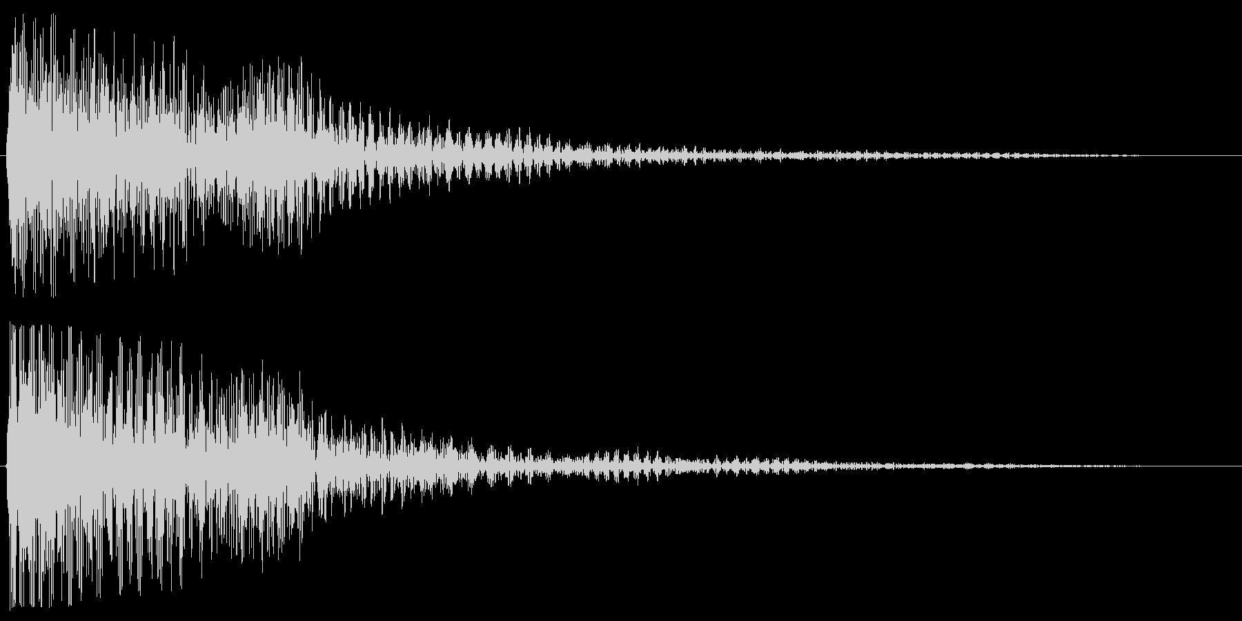 ゴーン(魔法にも使えそうなきれいな音)の未再生の波形