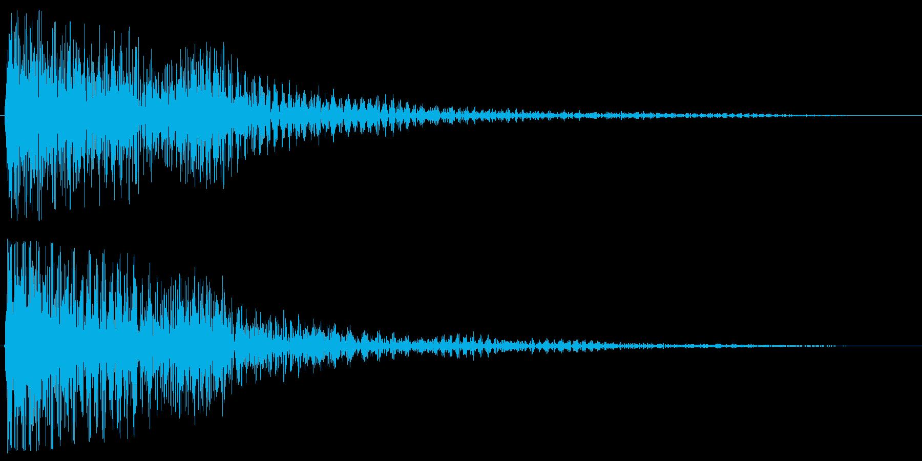 ゴーン(魔法にも使えそうなきれいな音)の再生済みの波形