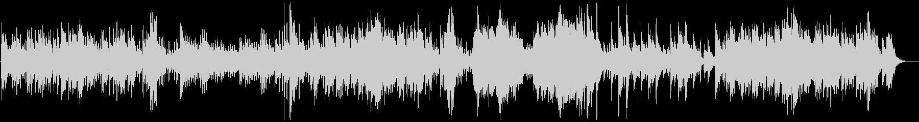 優しく切ないピアノのバラードの未再生の波形