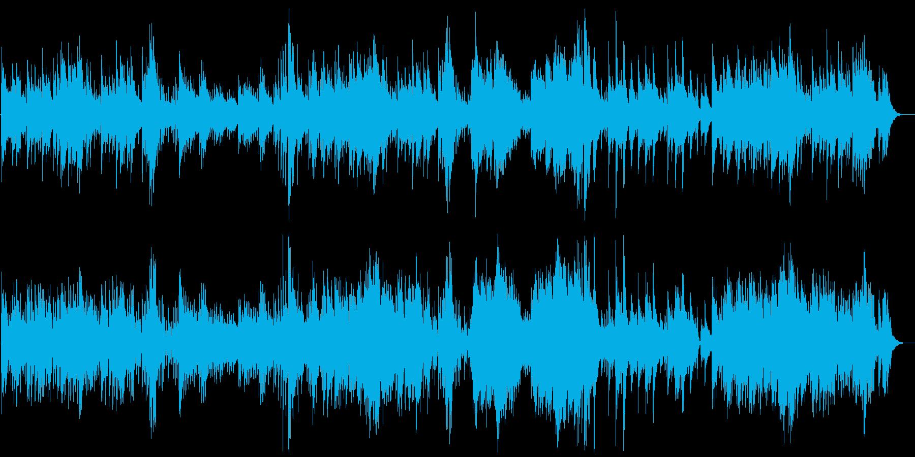優しく切ないピアノのバラードの再生済みの波形