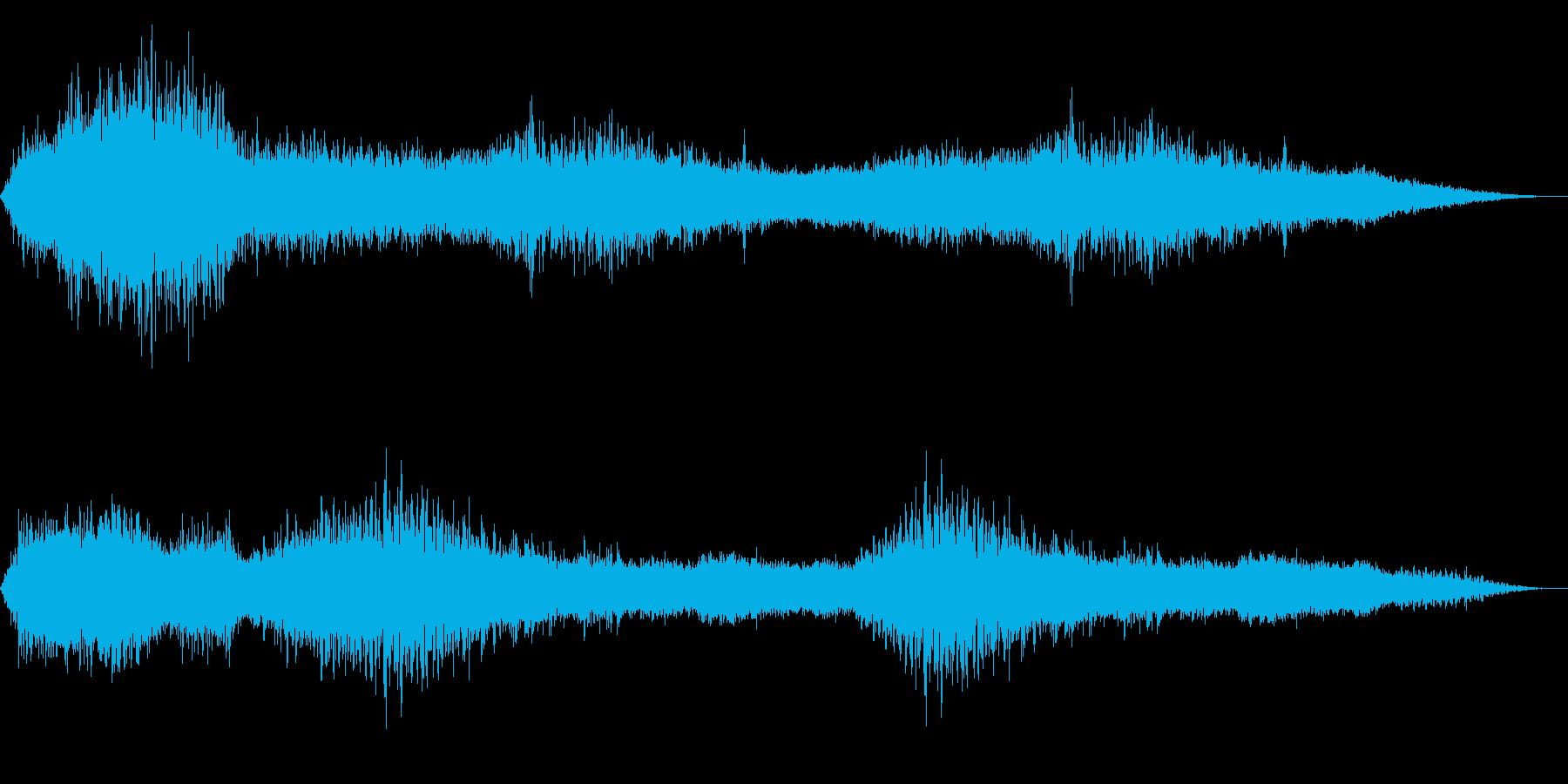 ホラー映画に出てきそうなノイズ系音源13の再生済みの波形