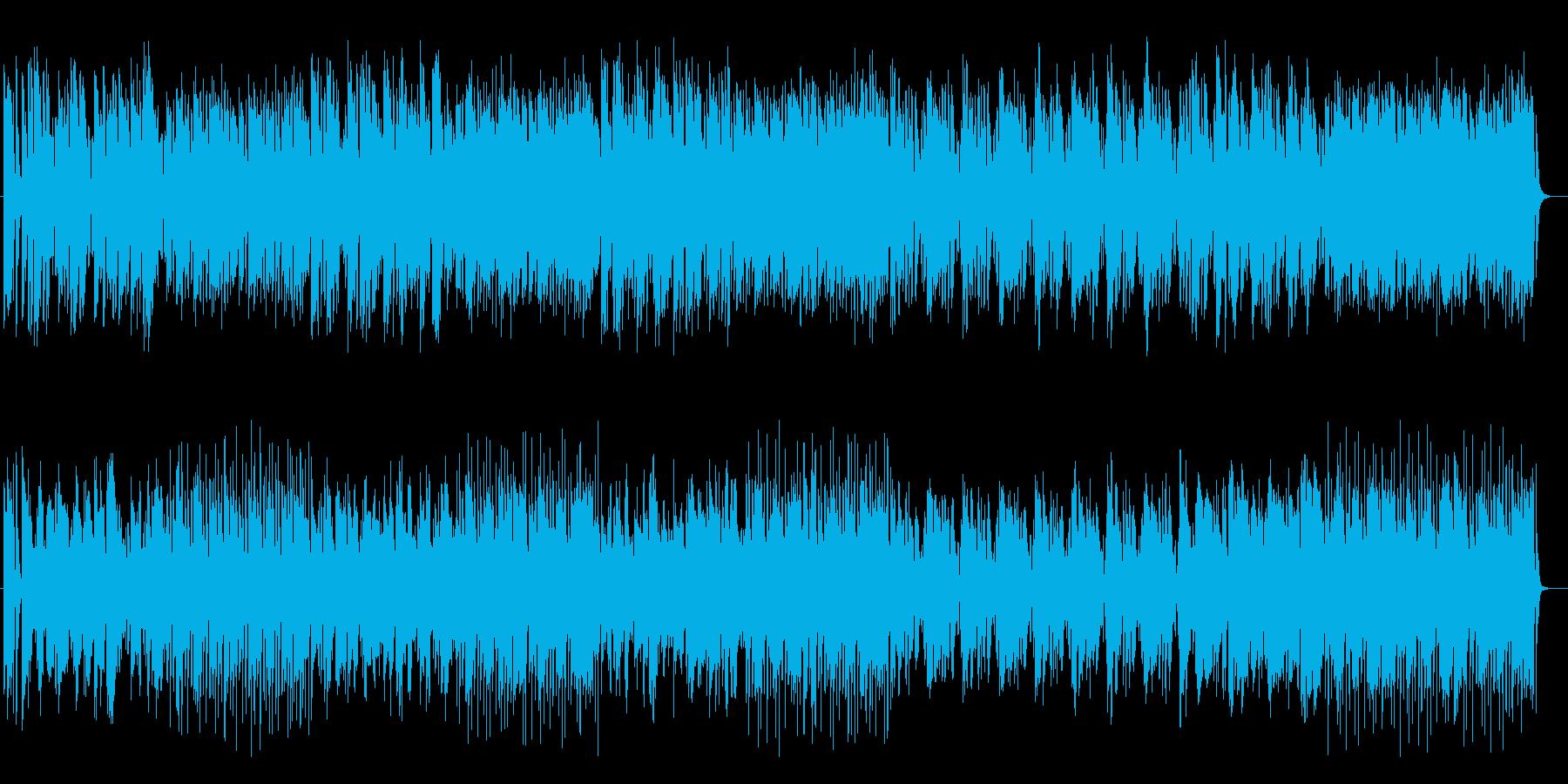 軽快でポップなファンタジック曲の再生済みの波形