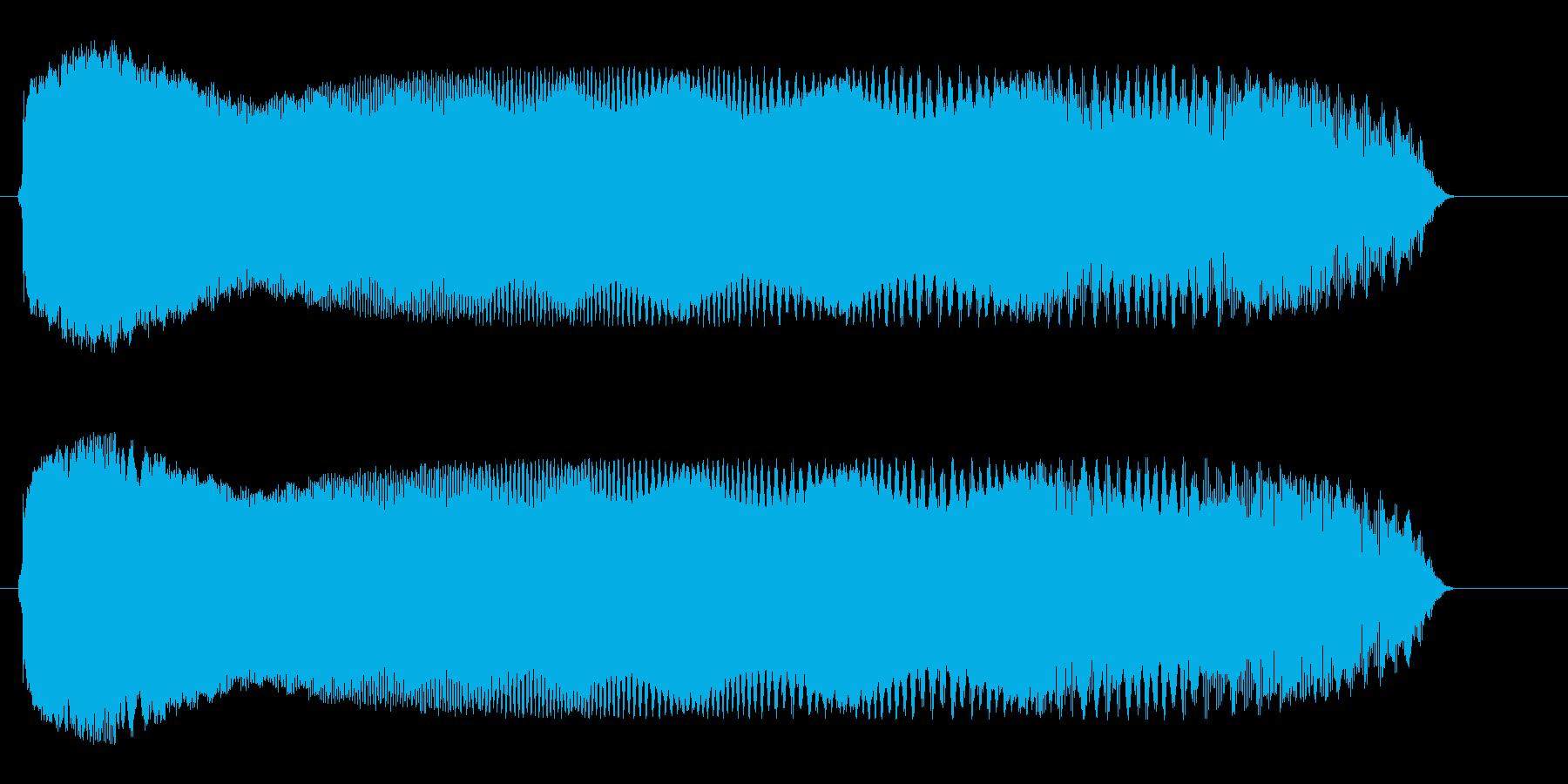 ピョロロロロ(UFOが移動する音)の再生済みの波形