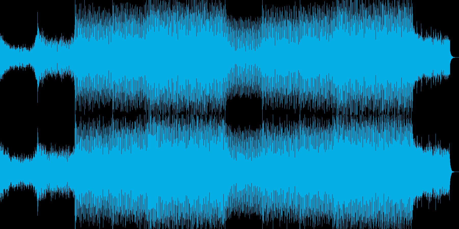 EDMクラブ系ダンスミュージック-02の再生済みの波形