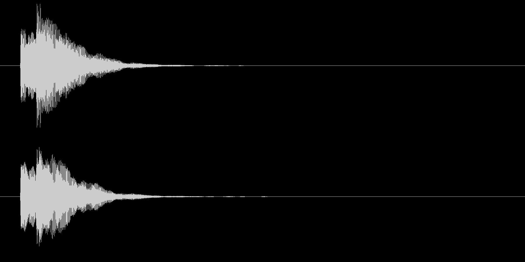 チャリンという決済音/コインの音(低音)の未再生の波形